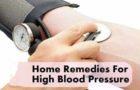 उच्च रक्तचाप के लिए घरेलू उपचार Home Remedies For High Blood Pressure
